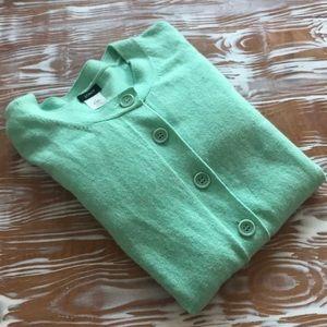 JCrew cashmere blend minty aqua cardigan Small